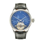 Portsmouth blue guilloche dial watch by Garrick