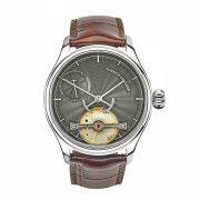 Portsmouth grey guilloche dial watch by Garrick