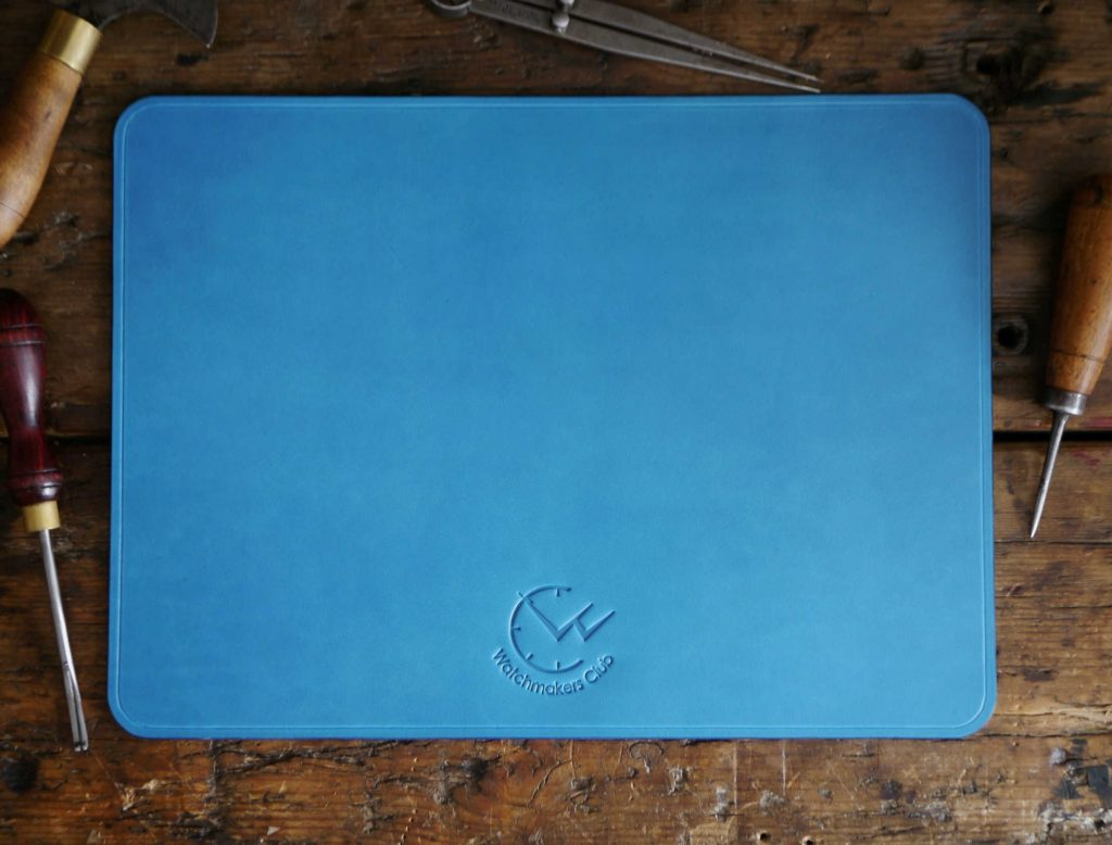 leather desk mat by watchmakers club
