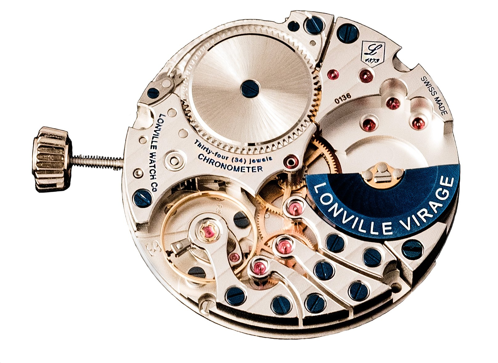 Lonville watch movement with micro rotor