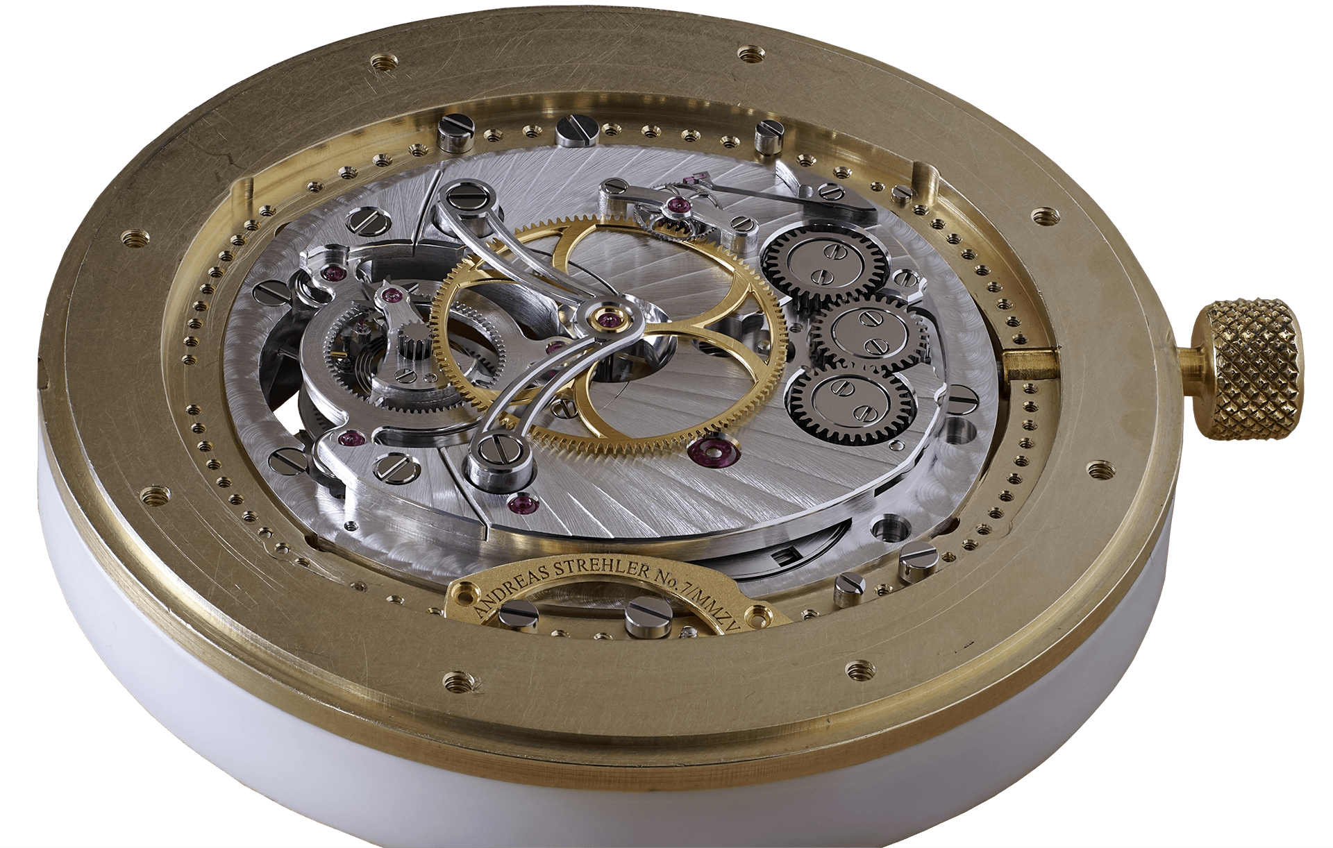 Andreas Strehler transaxle watch movement