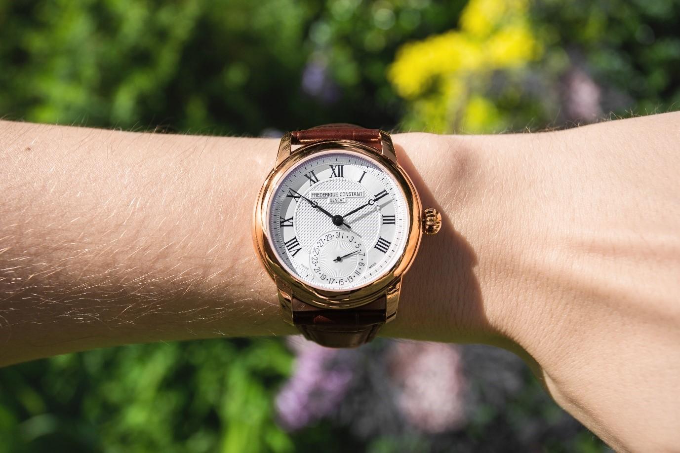 Frederique Constant worldtimer wrist shot
