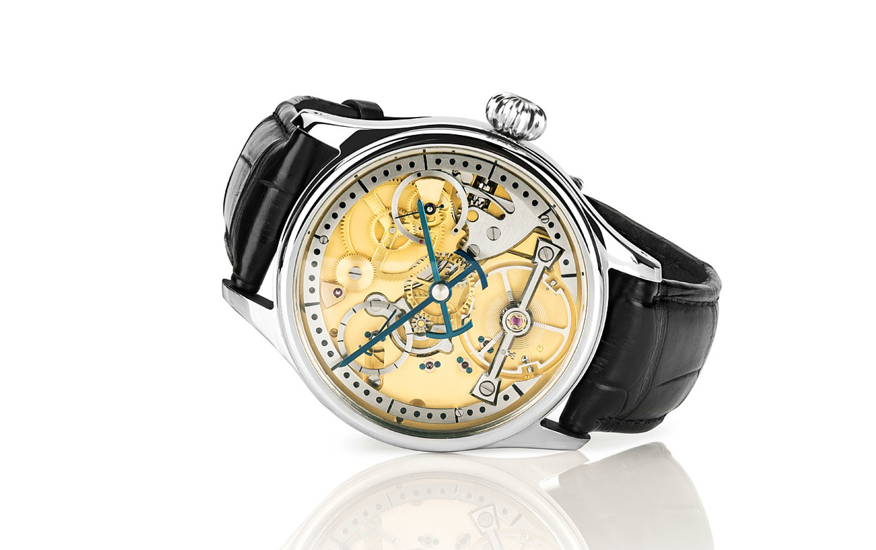 The S1 skeleton watch made in England by Garrick
