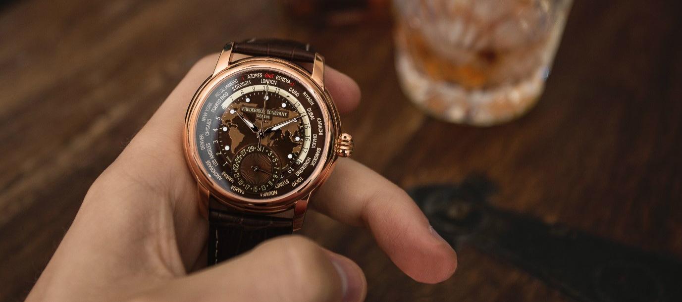 Frederique Constant worldtimer watch