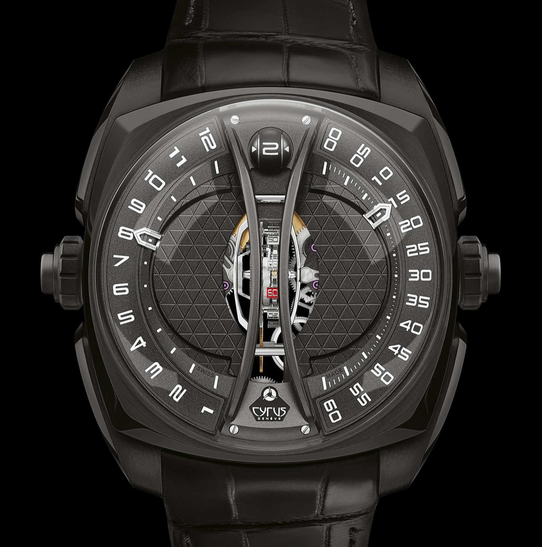 Cyrus black dlc toubillon watch