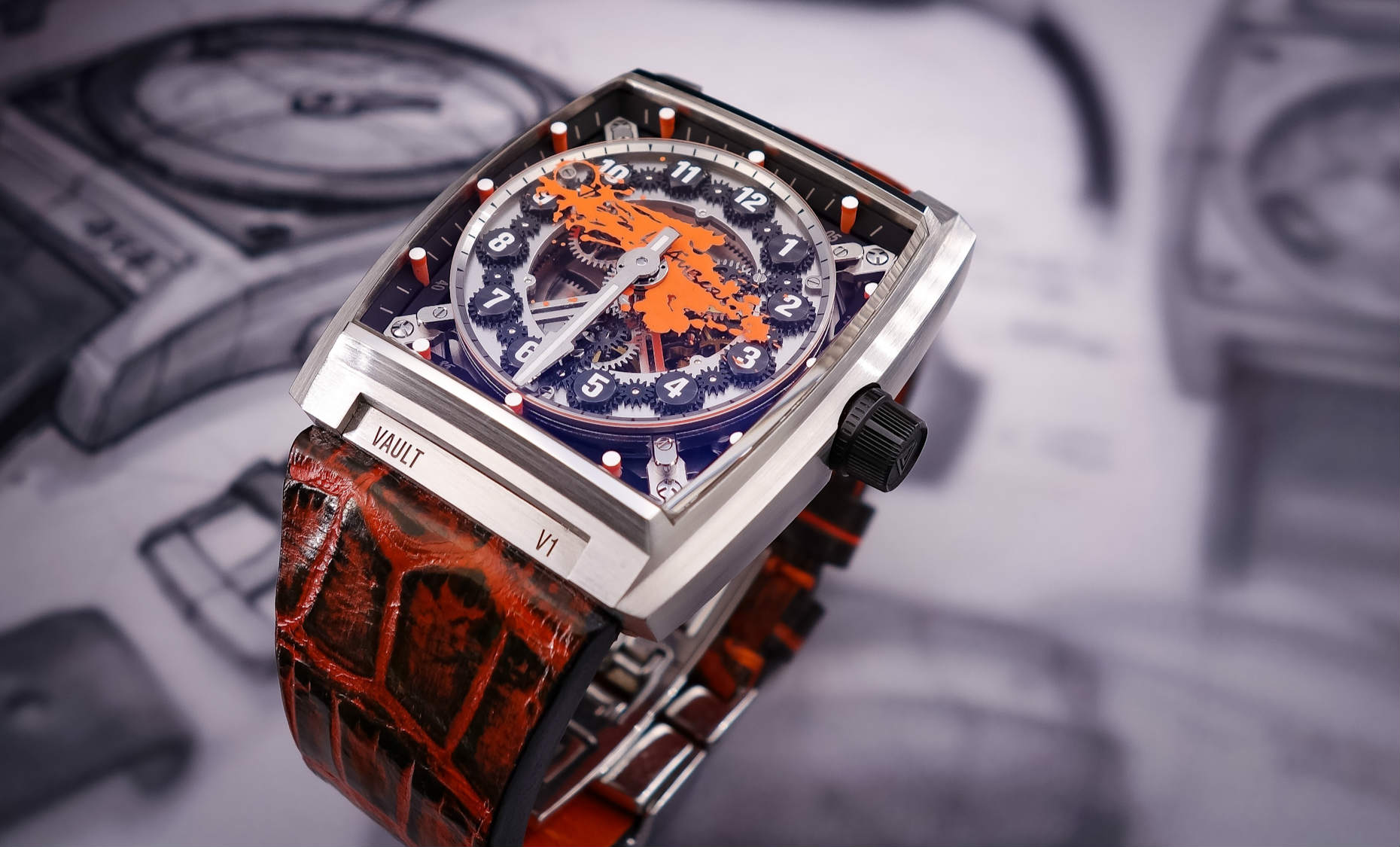 Vault V1-X watch made in Switzerland