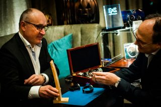 Patrick from GoS watches at the Watchmakers Club event.