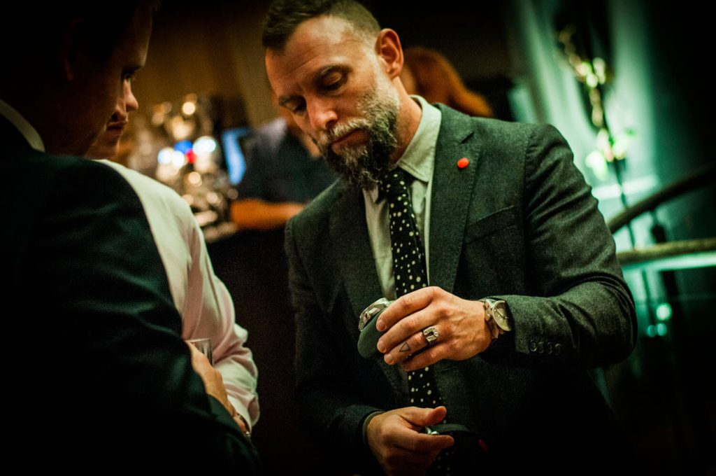 Giles Ellis of Schofield watches at the Watchmakers Club event
