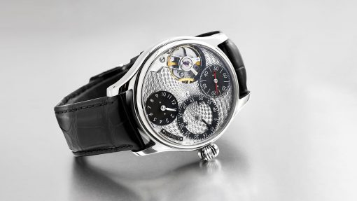 Regulator watch with engine turned dial by Garrick English watchmakers