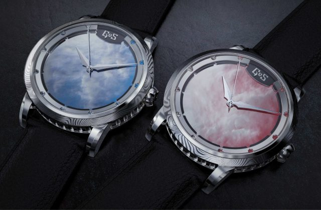 Sarek sunset watches by GoS with mother of pearl dials