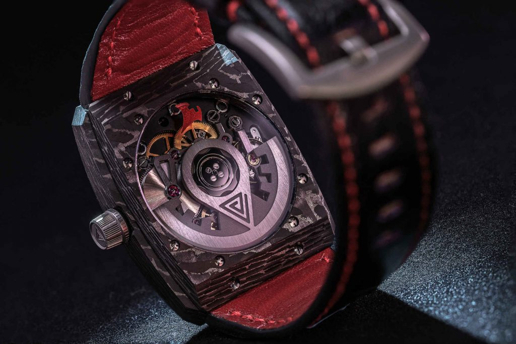 Vault Swiss V1 watch with carbon fibre case
