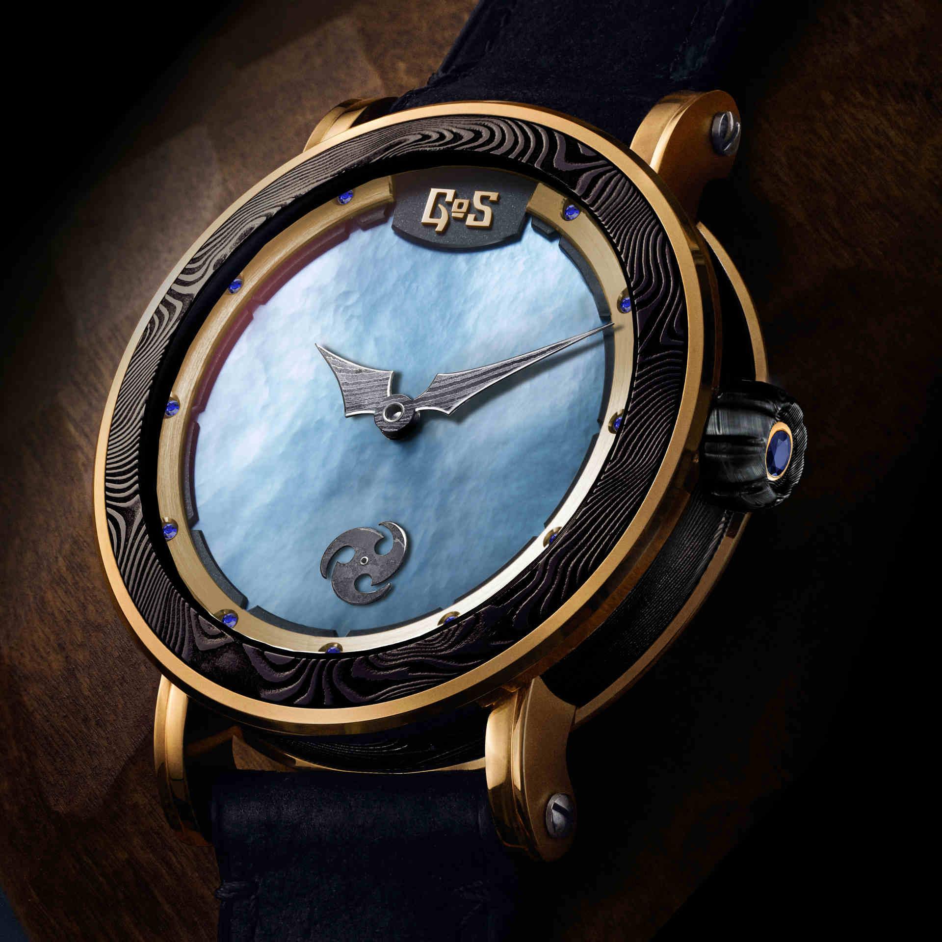 Skadi damascus steel watch by GoS