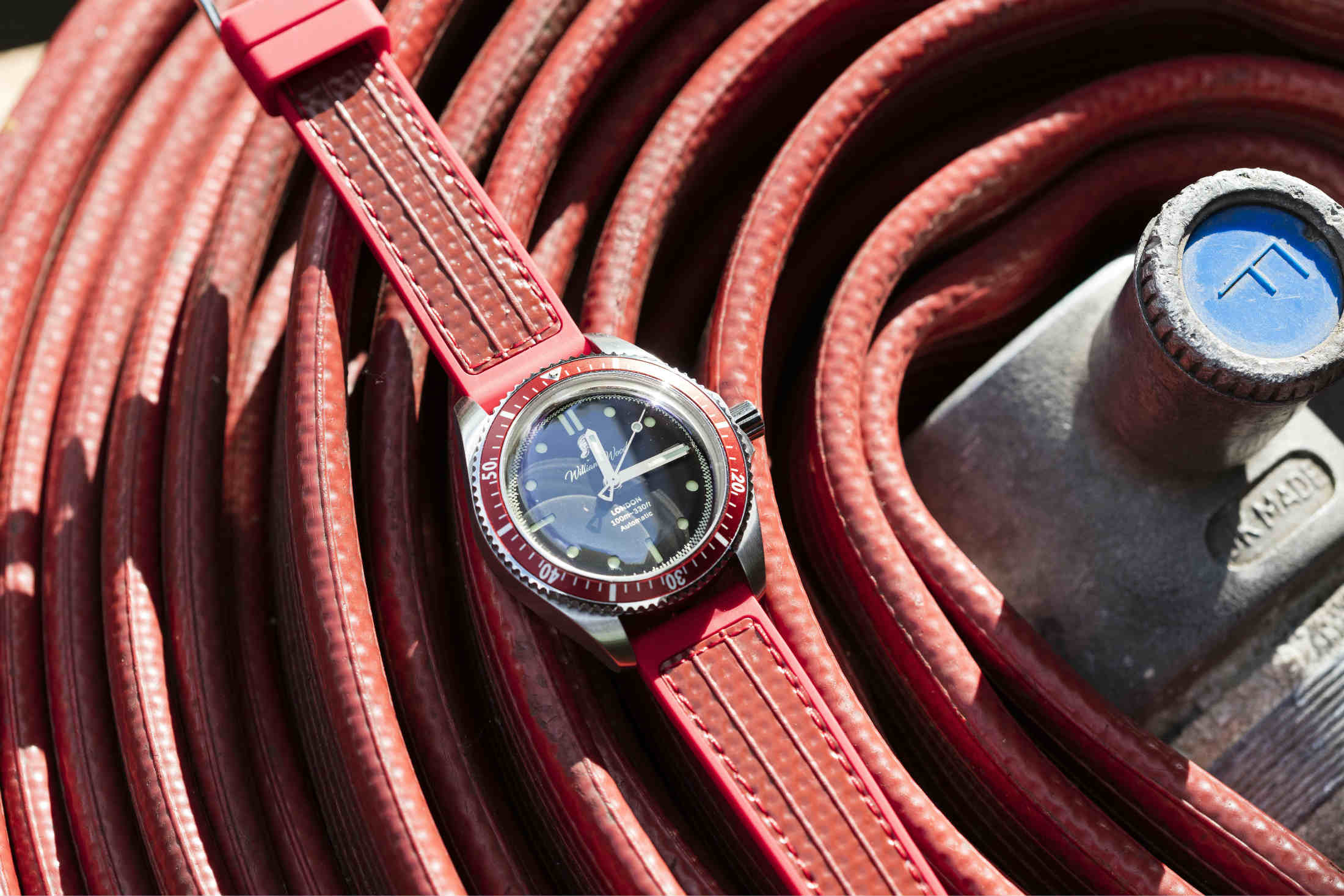 William Wood wristwatch with hose strap