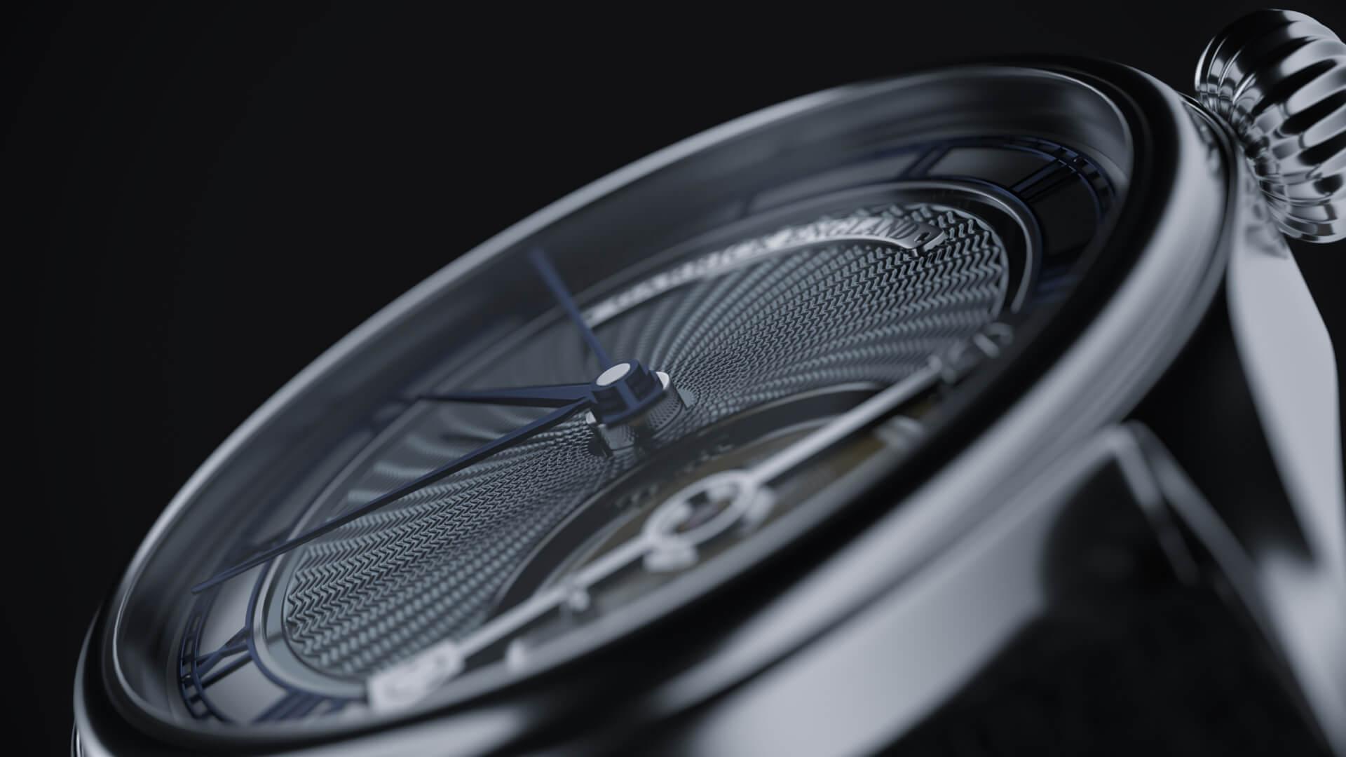 3d render of Garrick S2 watch